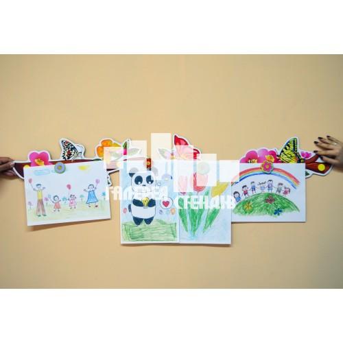 Інформаційний магнітний стенд для оформлення класу - стіна слів: гілка з метеликами