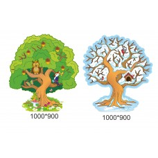 Декорація для школи та дитячого садка: Дерево двустороннє