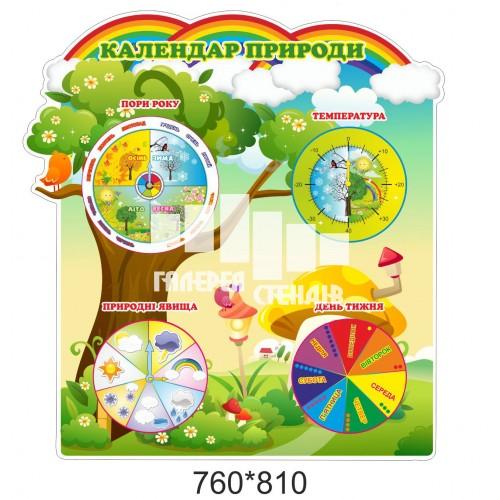 Календар природи для сучасного оформлення