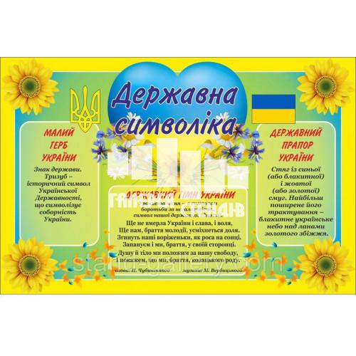 Баннер Державні Символи: герб, флаг, гімн - я люблю Україну