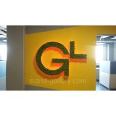 Логотипы и вывески из стабилизированного мха