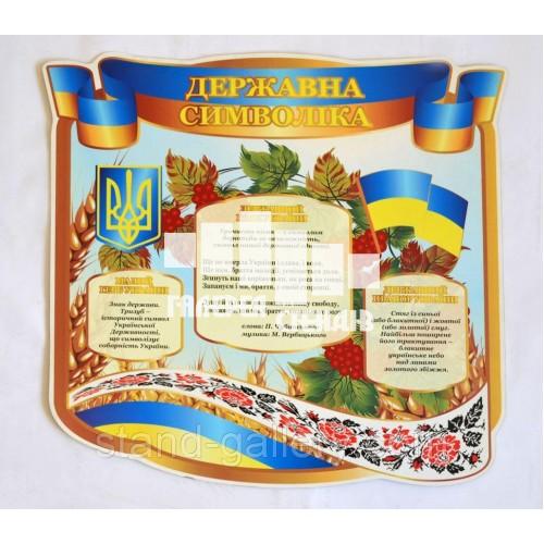 """Информационный стенд """"Государственная символика"""""""