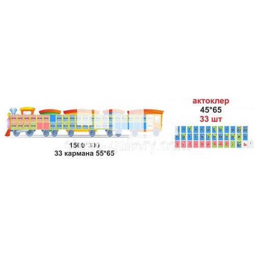 Стенд для школи НУШ 1 класса: звуки та літери