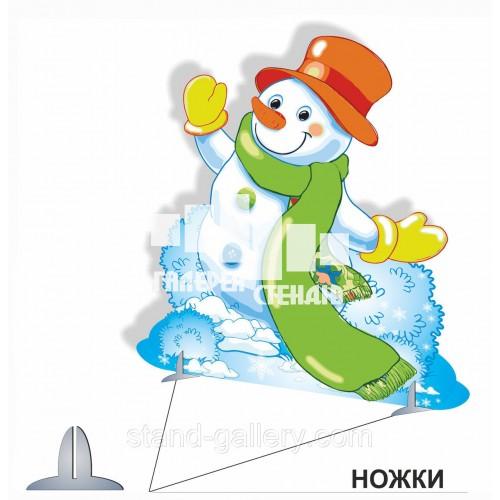 Декорация для детского сада Снеговик