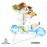 Новогодний декор для детского сада Снеговик