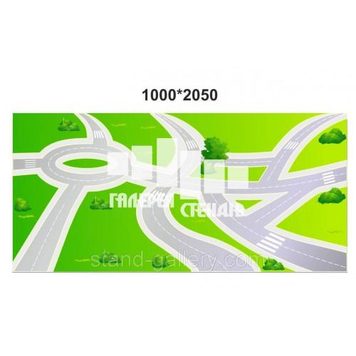 Наклейка на підлогу: дорога