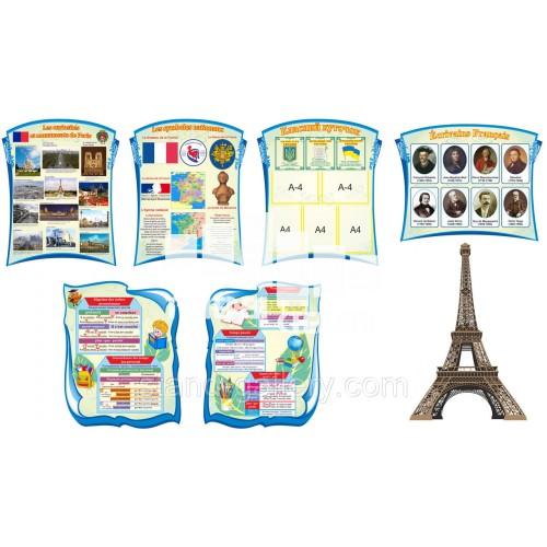 Стенды для школы Кабинет французского языка