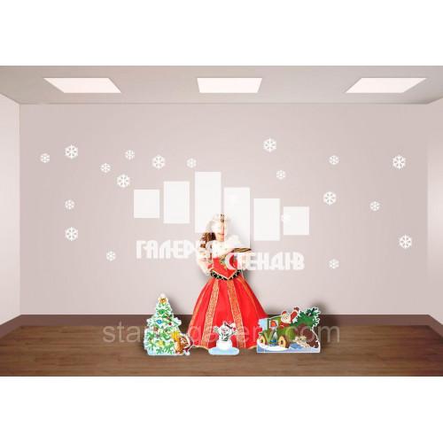 Новорічна фотозона - декор: ялинка, сніговик, дід мороз