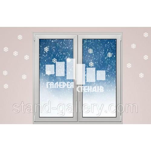 Новорічні наклейки на вікна