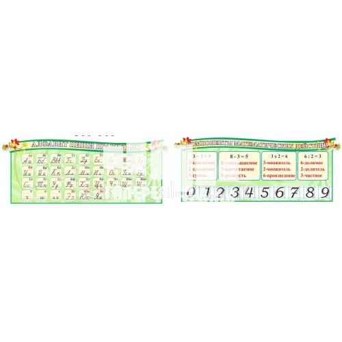 Стенди для початкової школи - Алфавіт + Математика