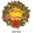 Вінілова наклейка на стіни - новорічний декор віночок