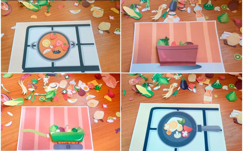 Безкоштовно: дидактичний матеріал своїми руками - гра роздруковка вчимося готувати з відео