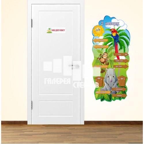 Навігація по школі - наклейки на стіни або стенд для оформлення коридорів школи нуш