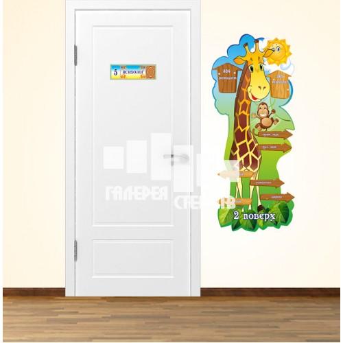 Навігація по школі - наклейки на стіни або стенд для оформлення коридорів школи