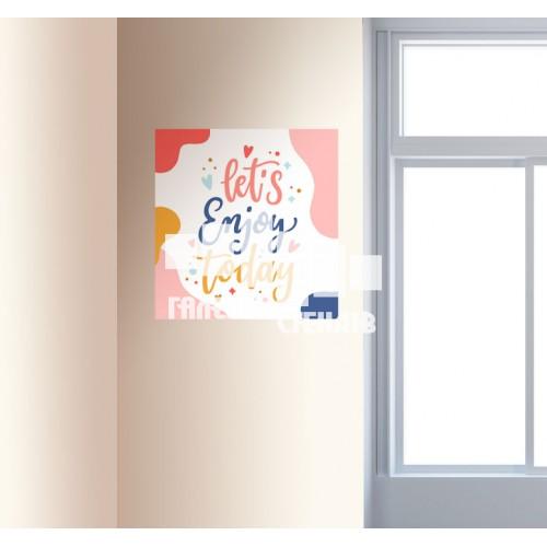 Вінілова наклейка в кабінет англійської мови: lets enjoy today