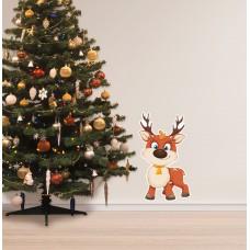 Вінілова наклейка на стіни - олень різдвяний