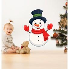 Вінілова наклейка на стіни - сніговик