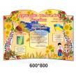Стенд для початкової школи Державна символіка України