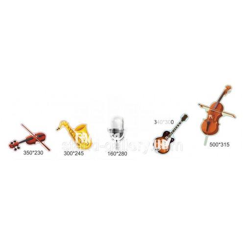 Сучасний кабінет музики - інструменти