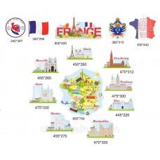 Кабінет французької мови пам'ятки карта
