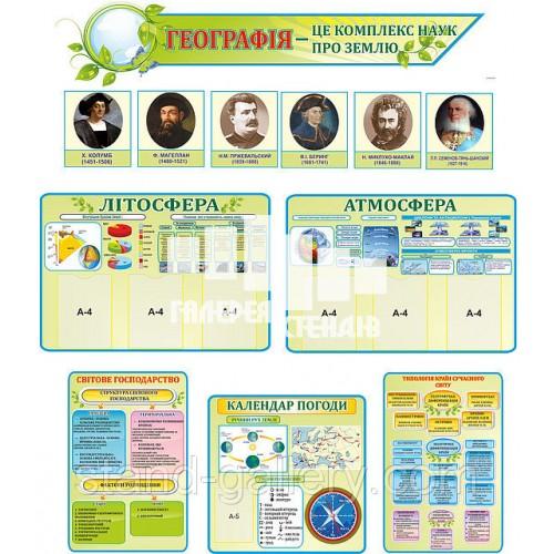 Оформлення сучасного кабінету географії