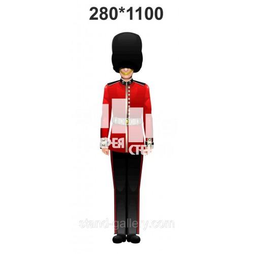 Англійський солдат в кабінет англійської