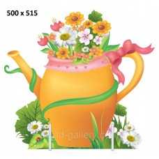 Декорація для оформлення фотозони на дитячу фотосессію: Лійка з квітами