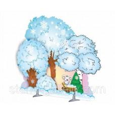 Декорація зимового лісу