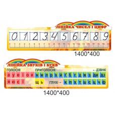 Кабінет початкових класів НУШ - плфавіт та лінійка чисел