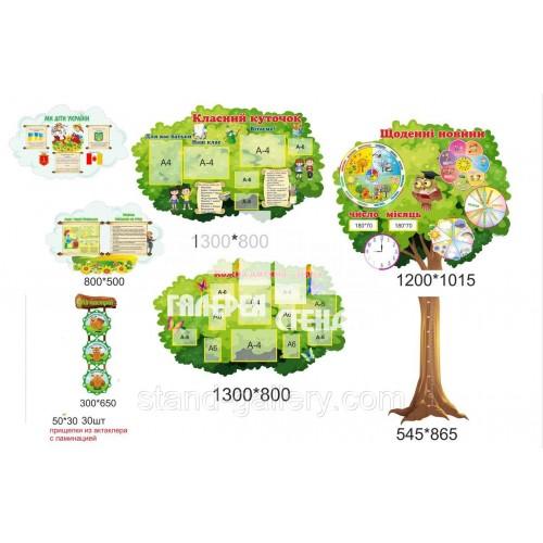 Оформлення класу стендами в стилі НУШ - дерево класу
