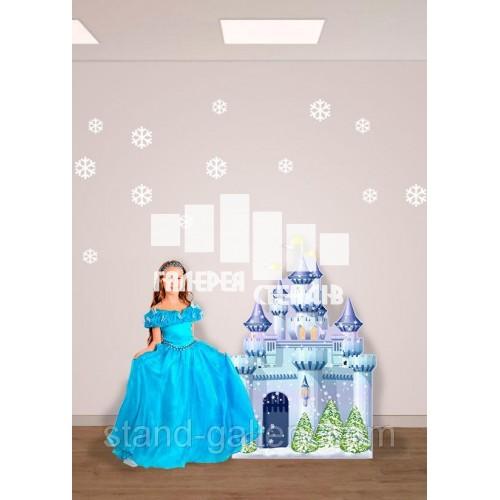 Декорація для сцени Чарівний замок зимовий
