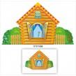 Декорація для дитячого театру: дерев'яна хата