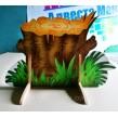 Декорація для дитячого садка: Пень з травою, квітами, грибами