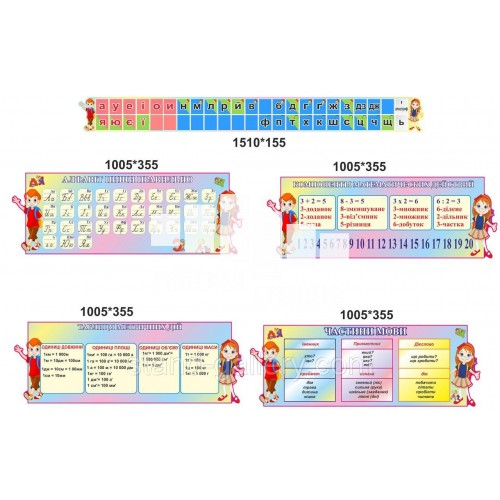 Стенди для 1 класу початкової школи - Розумні дітлахи