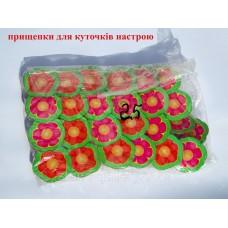 Декоративна прищепка в куточок настрою та для кріплення малюнків - квіточки