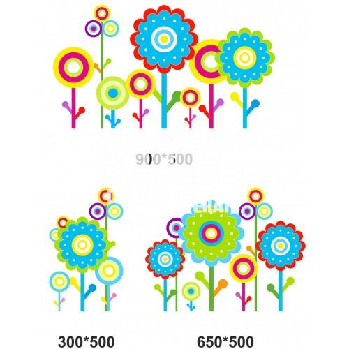 Наклейки на стены в виде цветов