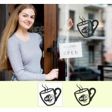 Виниловая наклейка для кофейни WI-FI Zone