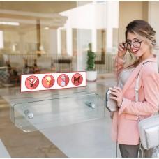 Вінілові наклейки для магазина та кафе: Забороняючі знаки