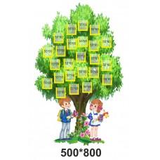 Дерево класу - стенд для фотографій дітей