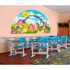 Красиве оформлення класної кімнати - місто веселки