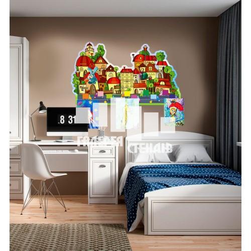 Оформлення дитячої кімнати - стильний куточок: місто творчості