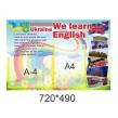 Стенди  з англійської мови для початкової школи