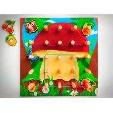 Геоборд - розвиваюча гра: грибочок