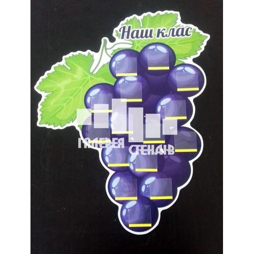 Оформлення класу: стенд для фото гроно винограду
