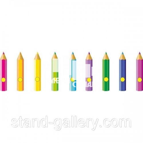 Куточки для дитячого садка Олівці - оформлення малюнків