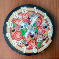 """Необычные оригинальные настенные часы """"Пицца"""""""