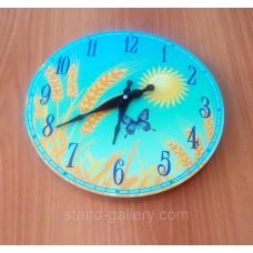 Оригінальний настінний годинник Колосок