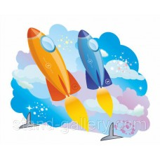 "Декорация ""Две ракеты"""
