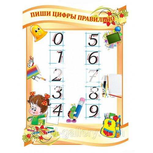Стенд для школи: Пиши цифри правильно