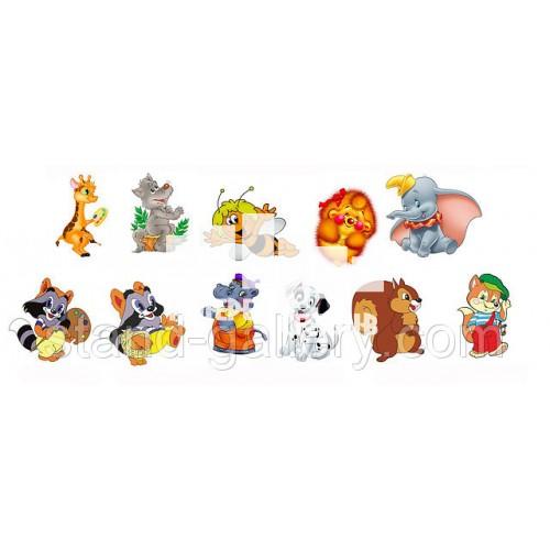 Стенди для малюнків в групу дитячого садка - звірята